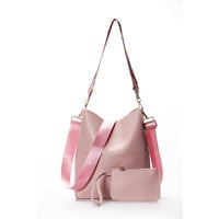 Wide Color Strap Bag With Small Bag - ngBay.com