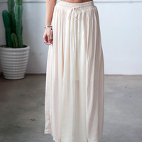 Blush Silk Maxi Skirt