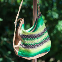 #Handmade #ladies #shoulder bag, #handbag, purse you can wear as #backpack - handwoven