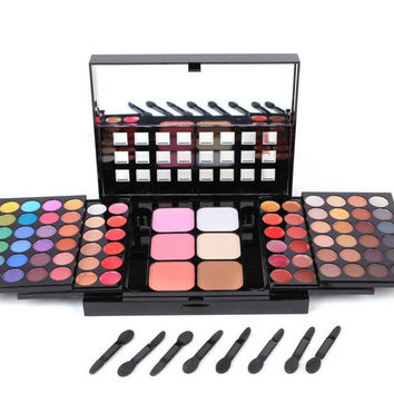Professional Makeup Face Pressed Powder 78 Color Concealing Contouring Palette Foundation Base + Eye Shadow Womens Gift 04