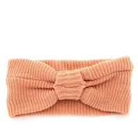 KNOTTED BOW KNIT HEADWRAP