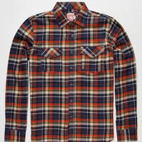 Micros Red Rover Mens Flannel Shirt Orange  In Sizes