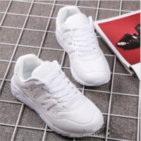 New balance abric is breathable n leisure sports shoes women's shoes Couples forrest gump students running White