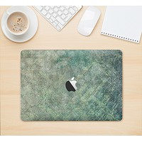 """The Grungy Green Painted Fabric Skin Kit for the 12"""" Apple MacBook (A1534)"""