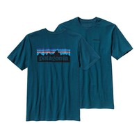 Patagonia Men's P-6 Logo Cotton T-Shirt | Crater Blue
