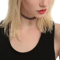 Harry Potter Deathly Hallows Tattoo Choker Set