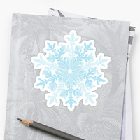 'Snowflake' Sticker by littlethe0