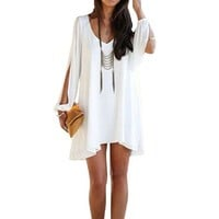 Tonsee(TM) White Fashion Summer Casual Sexy Dress
