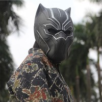 SUPERHERO Black Panther Masks Cosplay Latex