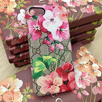 GG Fashion Flower Print iPhone Phone Cover Case For iphone 7 7plus 8 8plus X XR XS MAX 11 Pro Max 12 Mini 12 Pro Max