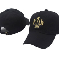 BLACK KITH 1996 Embroidered Adjustable Cotton Baseball Cap Hat