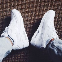 NIKE AIR MAX 90 Trending Unisex Casual Movement Shoe Sneakers Pure White I