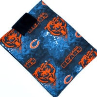 Hand Crafted Tablet Case From Licensed Chicago Bears  Basketball Fabric / Case for: iPad Mini,Kindle Fire HD 7,Samsung Galaxy 7, Nook 7