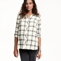 MAMA Checked Cotton Shirt - from H&M