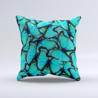 Butterfly BackGround Flat  Ink-Fuzed Decorative Throw Pillow