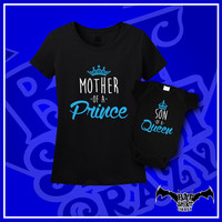 Mommy and Me Outfits, Mommy and Me, Mother Son Shirt, Mother Son Gift, Mother of a Prince, Son of a Queen, New Mom, T-Shirts, Shirt, Tee