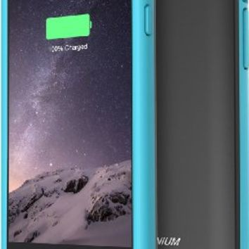 iPhone 6S Battery Case - iPhone 6 Battery Case, Trianium Atomic S Portable Charger for Apple iPhone 6 6S Battery Charging Case (4.7 Inches)[Black/Blue][Lifetime Warranty]- 3100mAh External Protective Juice Power Bank Charger[MFI Certified]