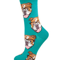 Socksmith Socks Bulldogster Crew Seaglass Green 1pair
