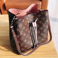 Louis Vuitton LV Popular Women Leather Bucket Bag Handbag Shoulder Bag Crossbody Satchel