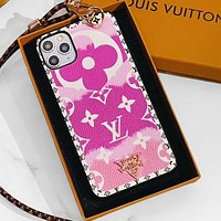 LV Case Louis Vuitton Clouds Gradient Monogram iPhone 6 s 7 s 8 XS XR 11 Pro Max Colorful Pink