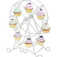 Godinger White Ferris Wheel Cupcake Holder