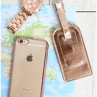 Jet Setter travel tag in rose gold Produced By SHOWPO