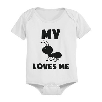 My Aunt Loves Me Funny Baby Bodysuits Gift for Niece or Nephew Infant Bodysuits