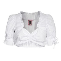 GERMAN PRINCESS  Classic White Shortsleeved dirndl blouse - What's new