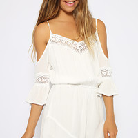 Tik Tok Playsuit - White