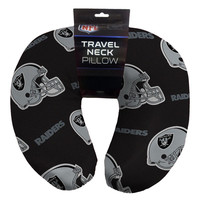Oakland Raiders NFL Beadded Spandex Neck Pillow (12in x 13in x 5in)