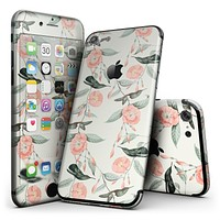 The Coral Flower and Hummingbird on Branches - 4-Piece Skin Kit for the iPhone 7 or 7 Plus