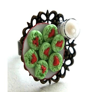 The Grinch Cookies and Milk Ring