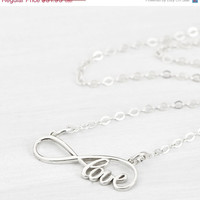 Fall Sale Infinity Love Necklace - Infinity Necklace - Infinity Pendant - Gift for Her - Infinity Jewelry - Love Jewelry