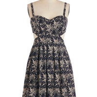 ModCloth Festival Mid-length Tank top (2 thick straps) A-line Light Up the Night Dress