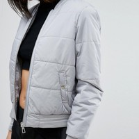 Lipsy Padded Bomber Jacket at asos.com