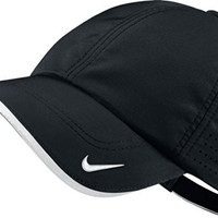 2014 Nike Golf Performance Blank Cap Hat - Perfect For Team Logos (Black)