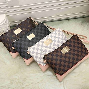 LV Louis Vuitton classic zipper cosmetic bag cosmetic bag fashion men and women handbag