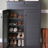 Design Studios Harding Shoe-Storage Cabinet - Brown