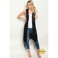 Lay It All On Me Women's Crocheted Maxi Vest