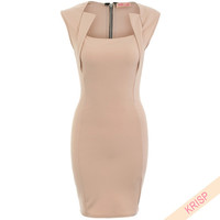 KRISP Womens Sexy Sleeveless Bandage Bodycon Dress Clubwear Ladies Pencil Mini