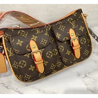 Lv print pokcet shoulder bag Messenger bag
