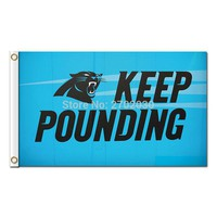 Keep Pounding Ericsson Stadium Carolina Panthers Design Flag Football Team 3ft X 5ft Banners Super Bowl Champions