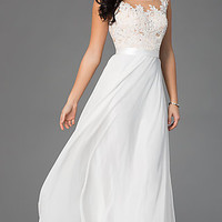 Floor Length Lace Embellished Dress by Sean