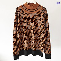 Fendi Fashion new more letter print women long sleeve top sweater 1#