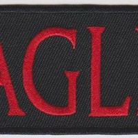 Eagles Iron-On Patch Red Letters Logo
