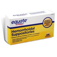 Equate Hemorrhoidal Suppositories, 24 Suppositories , Box