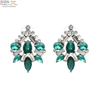 New 5 colors Trend fashion hot sale women good quality crystal vintage statement Earrings for women jewelry Factory Price