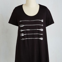 Mid-length Short Sleeves Time of Dep-Archer Top