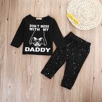 2pcs suit !! Newborn Baby Boys Girl Star Wars Clothes Tops T-shirt+Long Pants winter autumn Outfit Set
