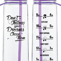 Purple 'dreams' bottle